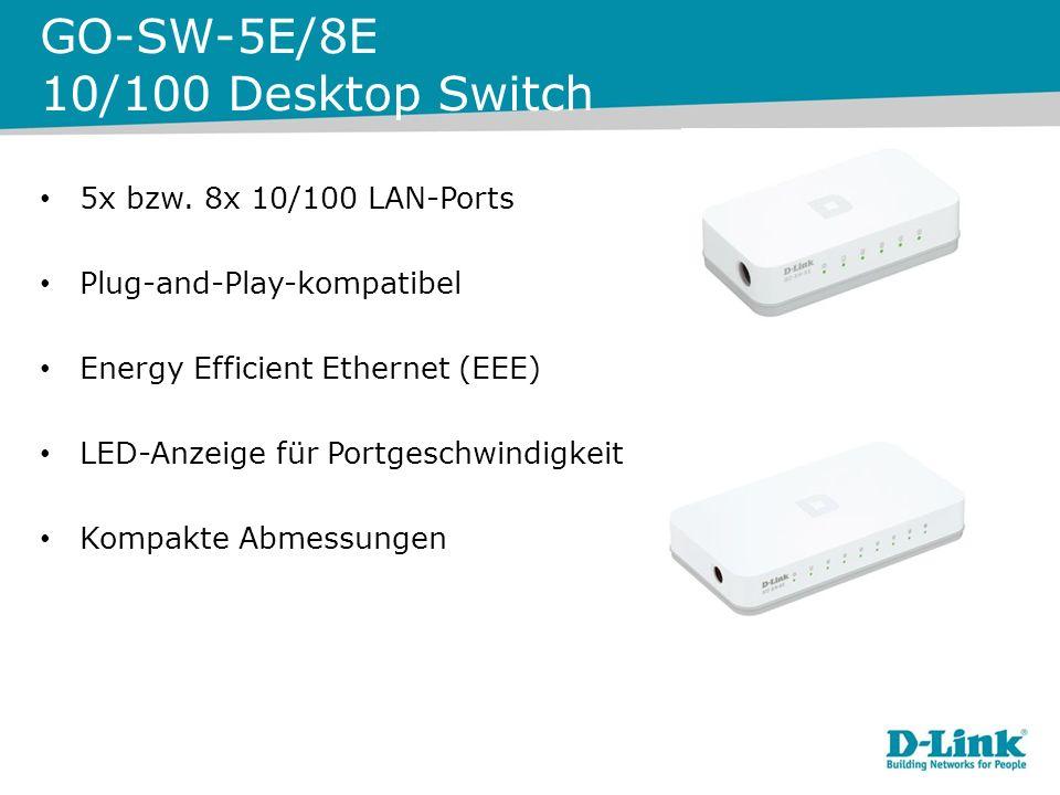 GO-SW-5G/8G Desktop Switch 5 bzw.