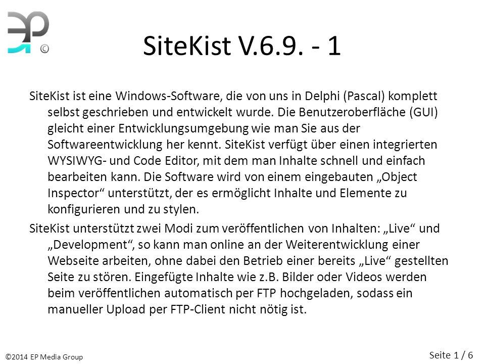 SiteKist V.6.9.