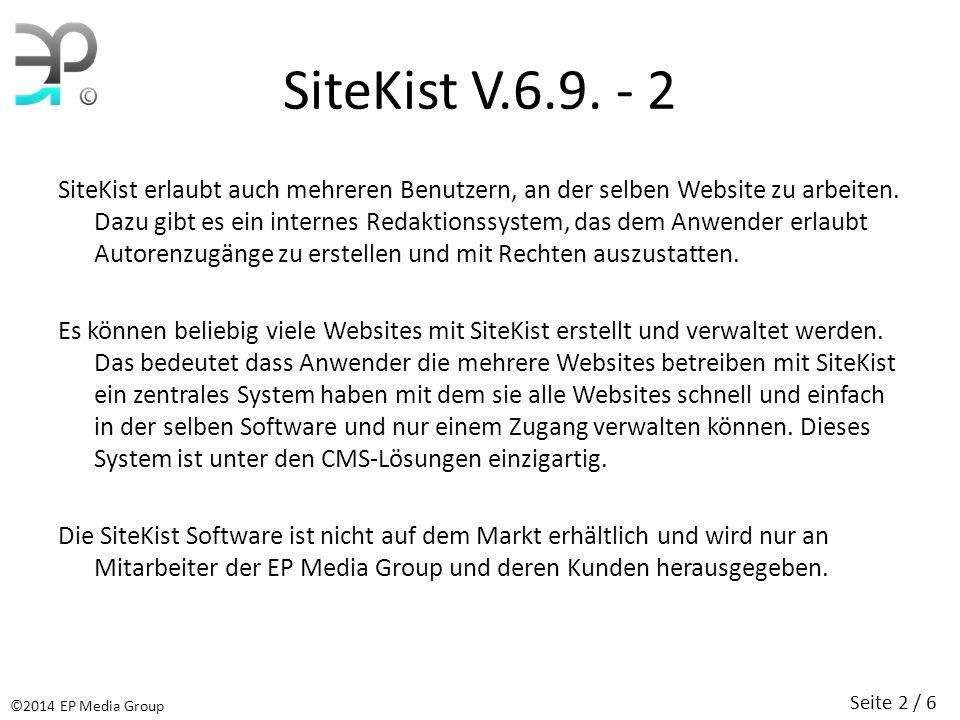 SiteKist V.6.9. - 2 SiteKist erlaubt auch mehreren Benutzern, an der selben Website zu arbeiten.