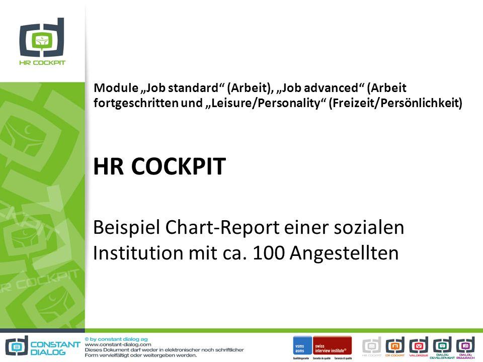 HR COCKPIT Beispiel Chart-Report einer sozialen Institution mit ca.
