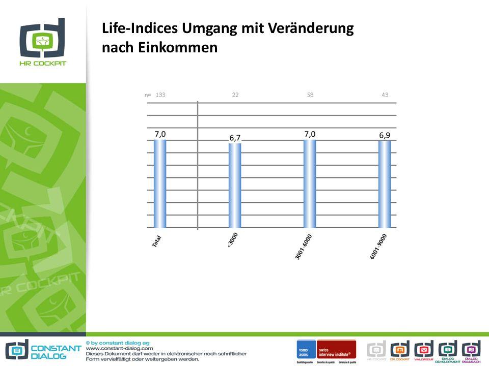 Life-Indices Umgang mit Veränderung nach Einkommen
