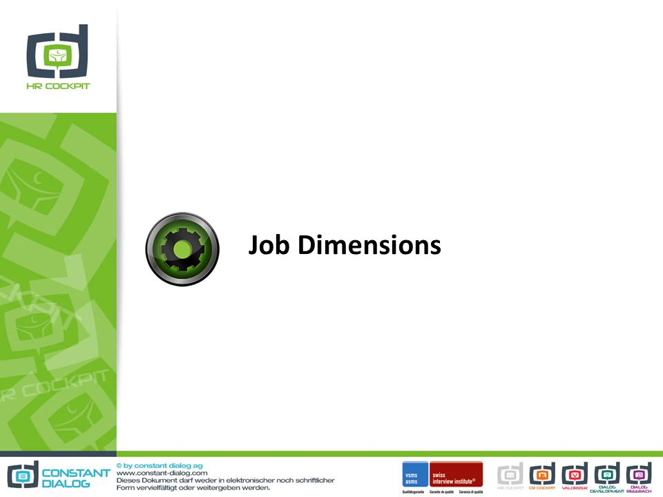 Job Dimensions
