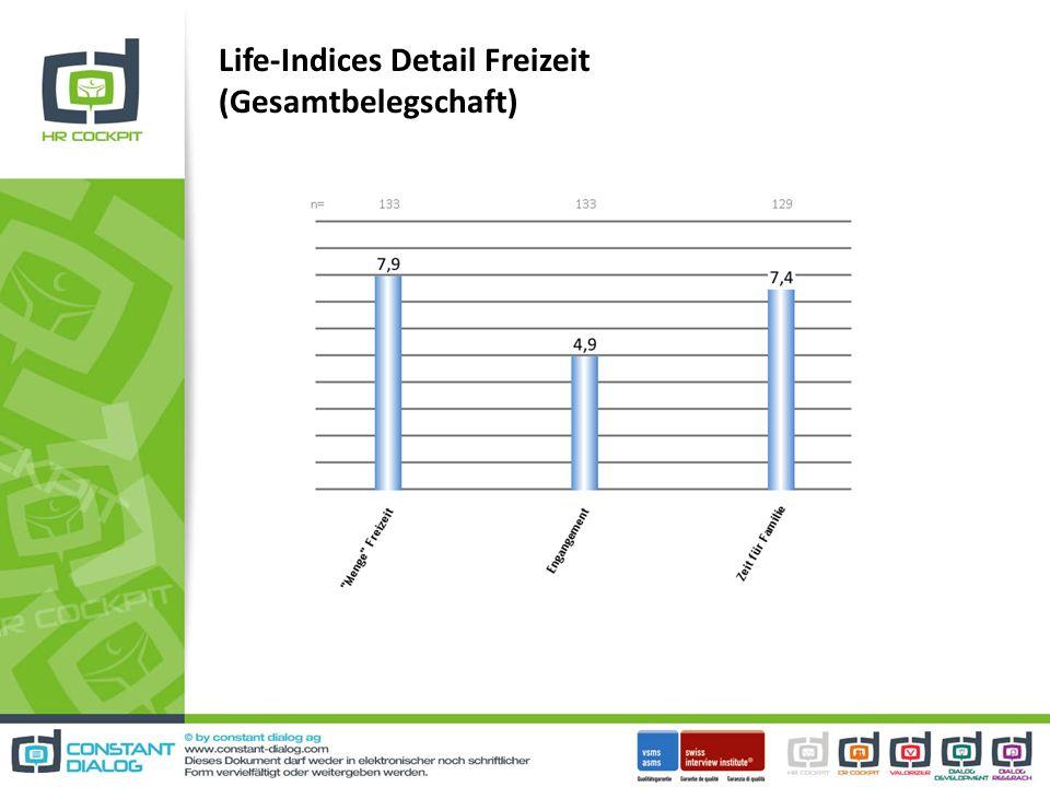 Life-Indices Detail Freizeit (Gesamtbelegschaft)