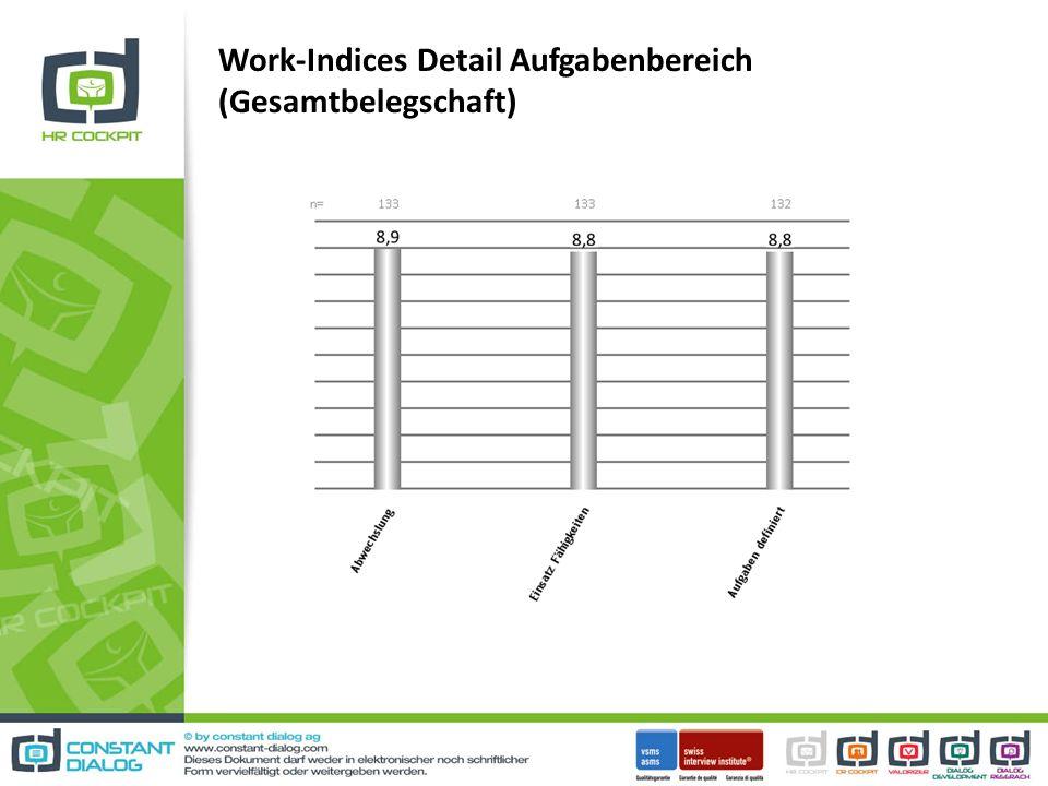 Work-Indices Detail Aufgabenbereich (Gesamtbelegschaft)