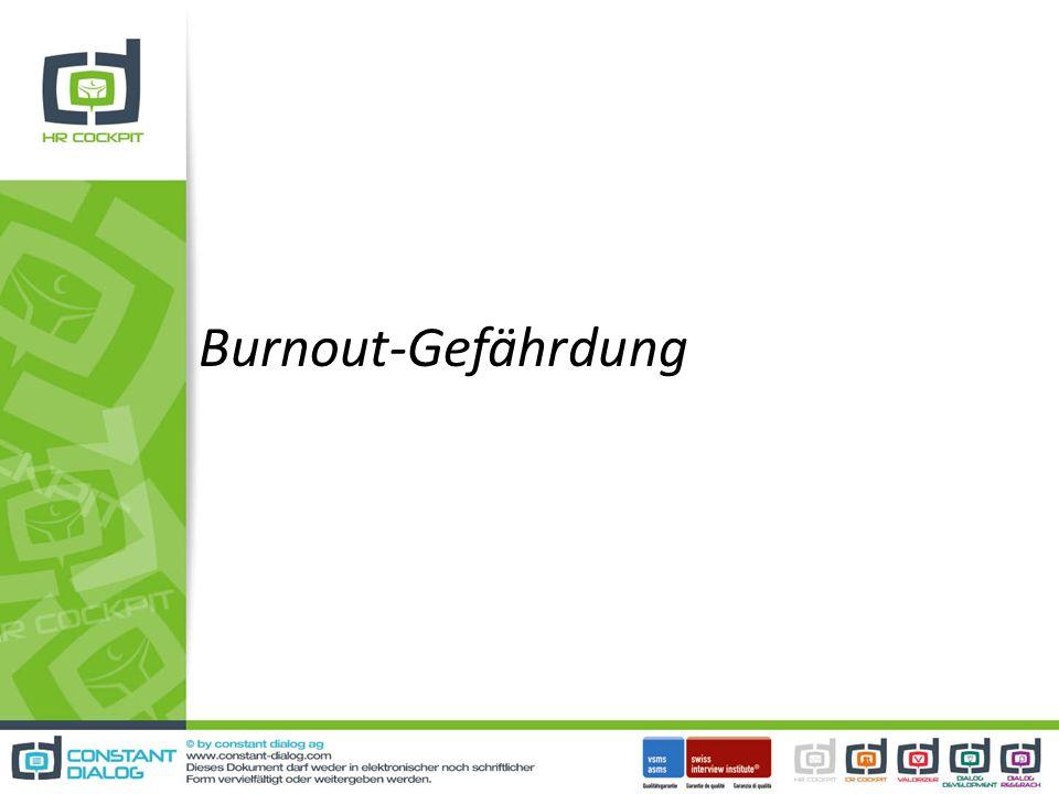 Burnout-Gefährdung
