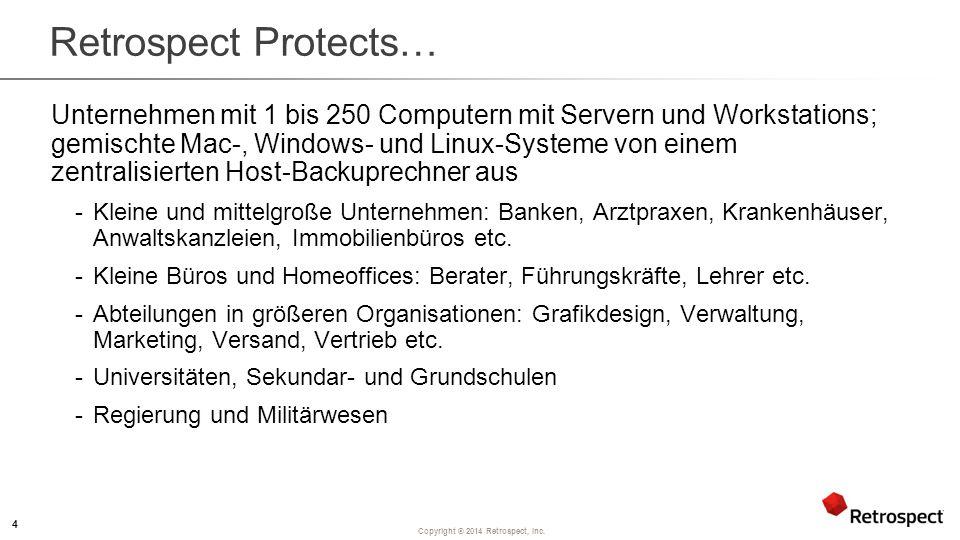 Copyright ® 2014 Retrospect, Inc.Was ist Retrospect.