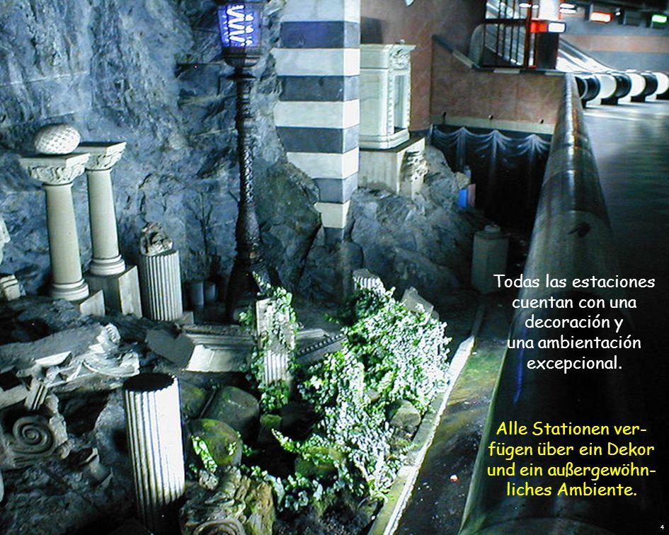 El metro de Estocolmo está considerado como la galería de arte más larga del mundo .