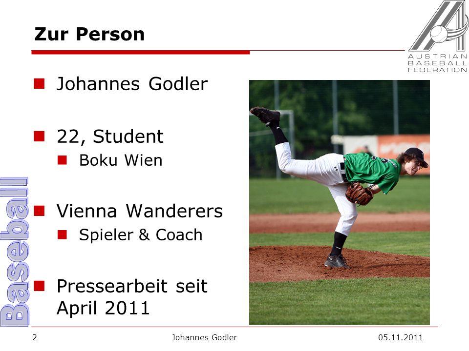 Auf eine gute Zusammenarbeit 2012! Johannes Godler 05.11.201113
