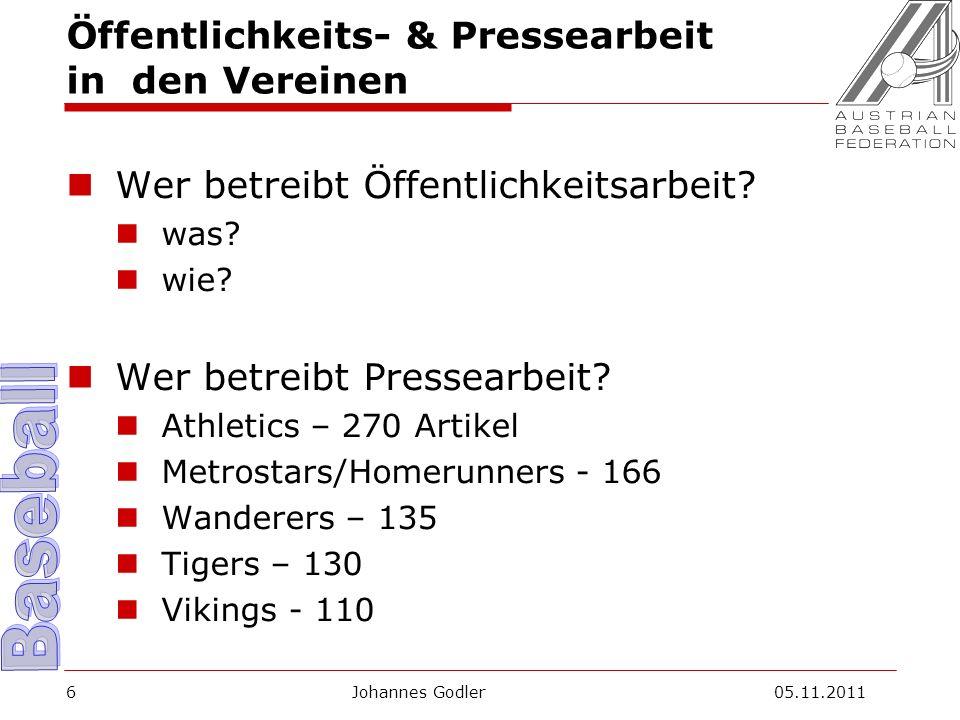 Öffentlichkeits- & Pressearbeit in den Vereinen Wer betreibt Öffentlichkeitsarbeit.