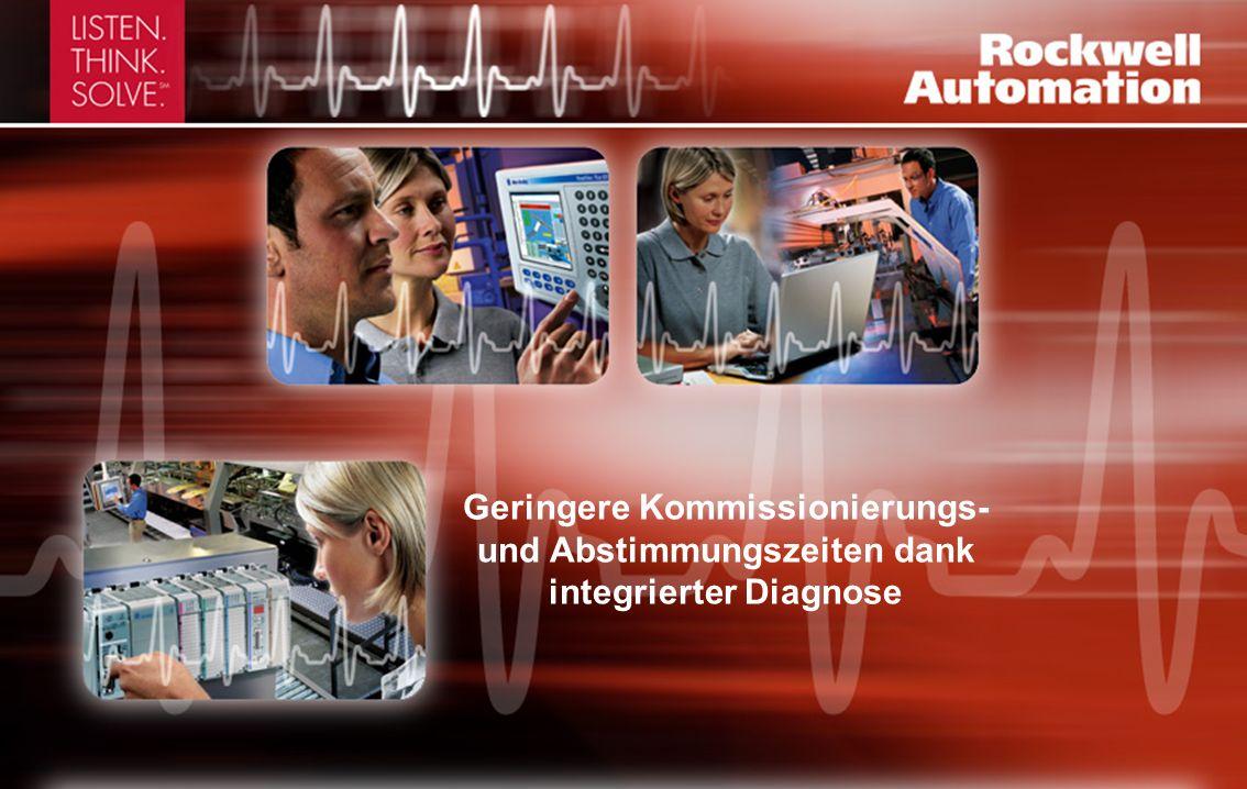 Geringere Kommissionierungs- und Abstimmungszeiten dank integrierter Diagnose