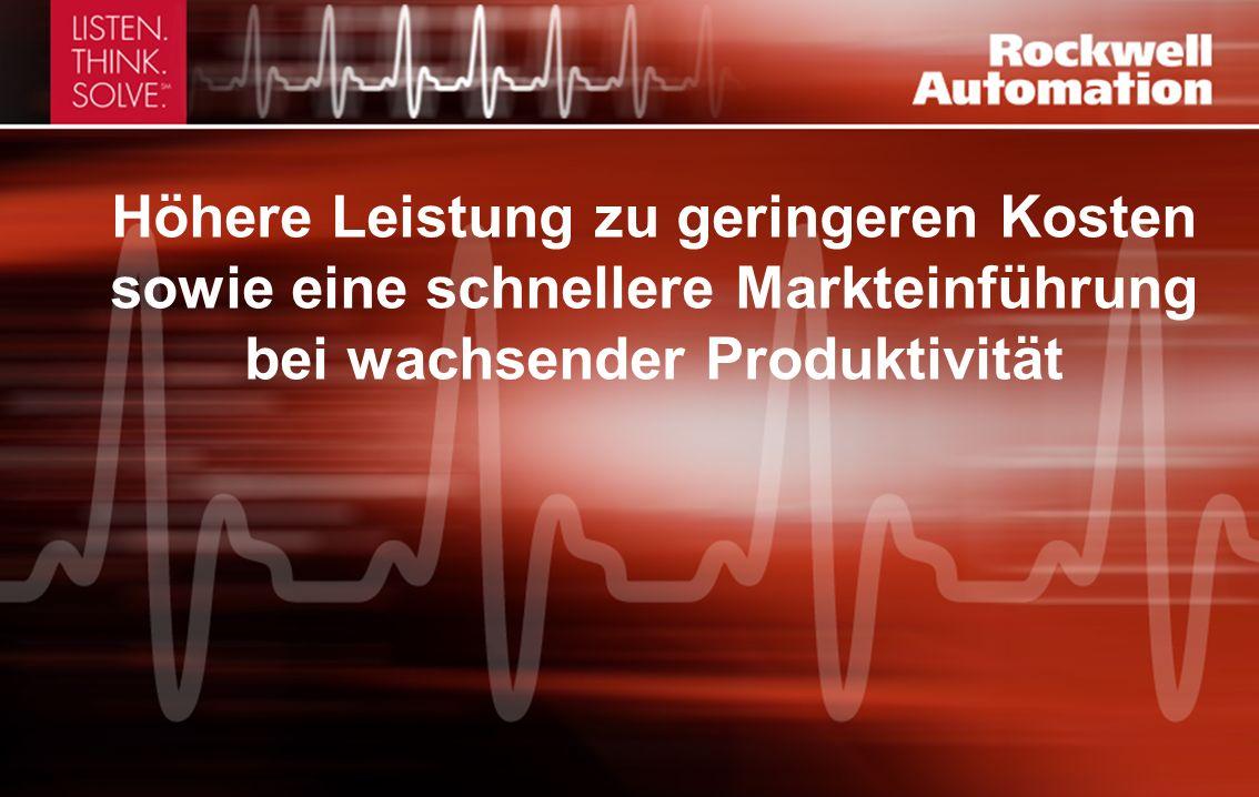 Höhere Leistung zu geringeren Kosten sowie eine schnellere Markteinführung bei wachsender Produktivität
