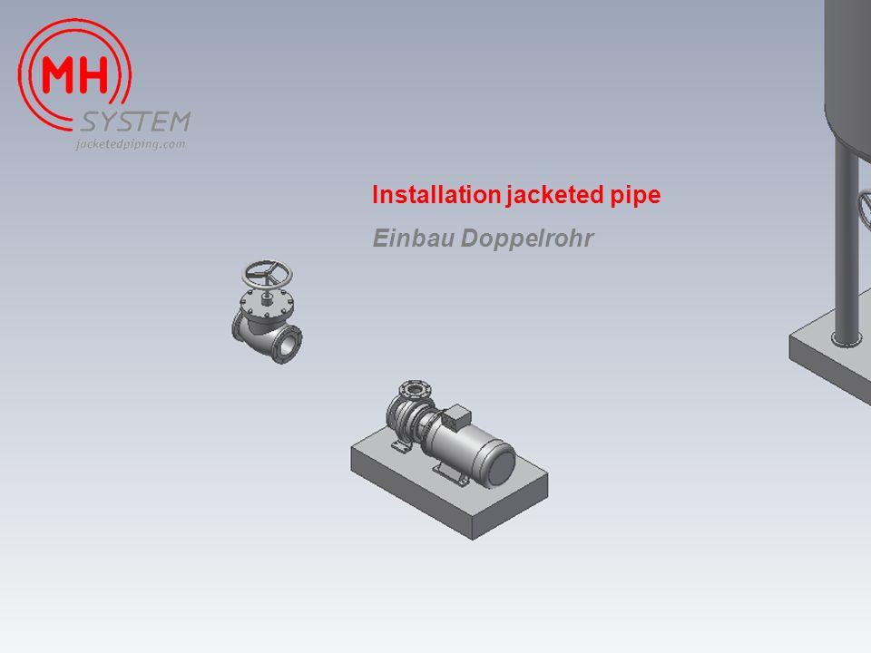 Installation jacketed pipe Einbau Doppelrohr