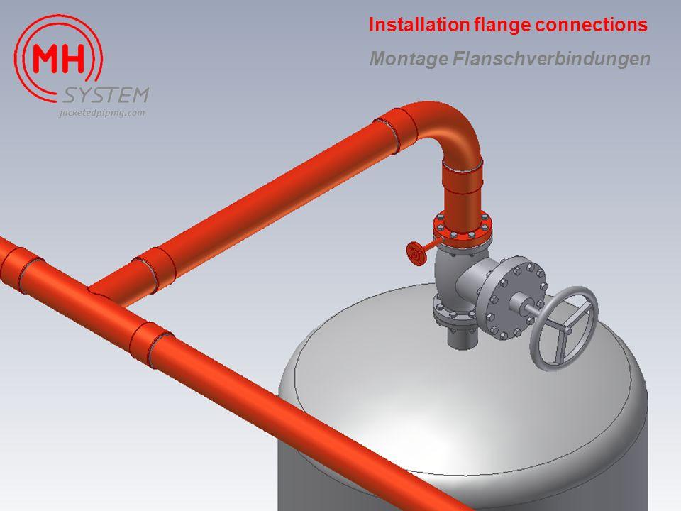 Installation flange connections Montage Flanschverbindungen