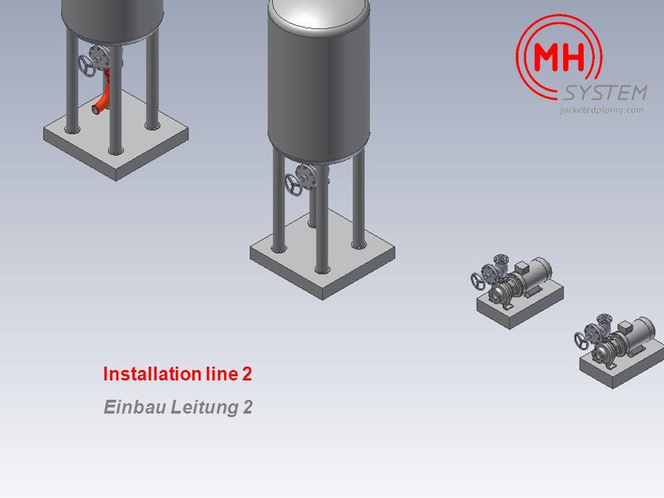 Installation line 2 Einbau Leitung 2