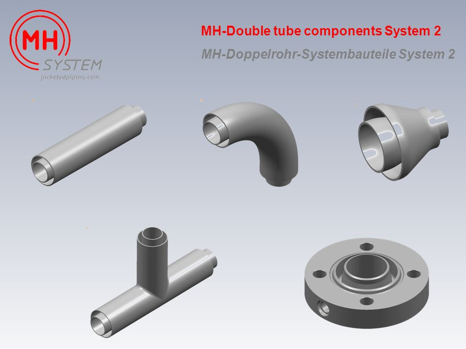 MH-Double tube components System 2 MH-Doppelrohr-Systembauteile System 2
