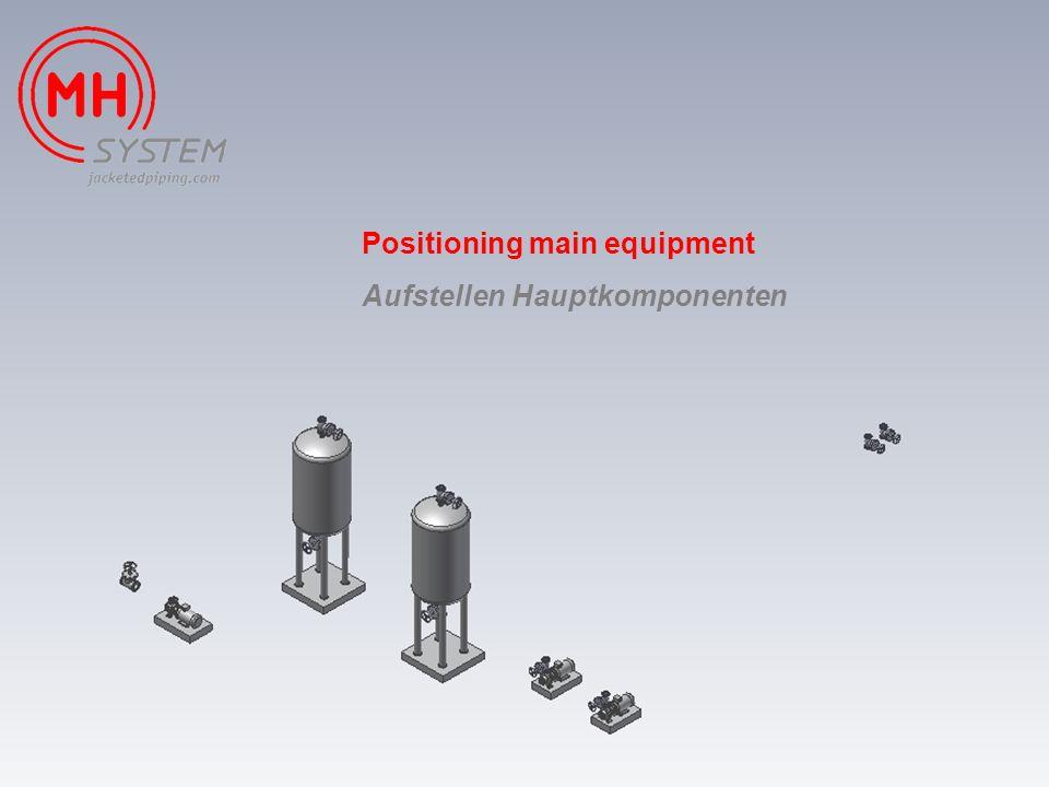 Positioning main equipment Aufstellen Hauptkomponenten