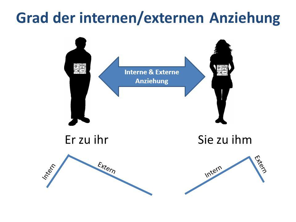 Grad der internen/externen Anziehung Intern Extern Er zu ihrSie zu ihm Interne & Externe Anziehung