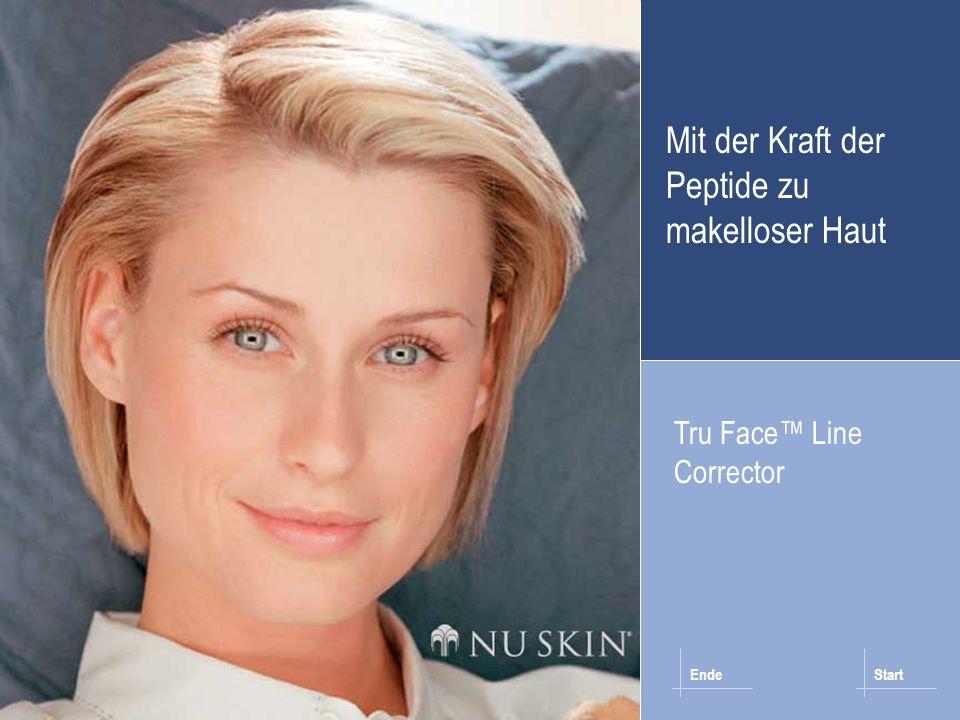 Wie werden Falten sichtbar?Pro-Kollagen PeptideTru Face Line Corrector Home © 2001 Nu Skin Wie Sie es anwenden Tru Face Line Corrector sollte morgens und abends nach der Reinigung und dem Toning verwendet werden.