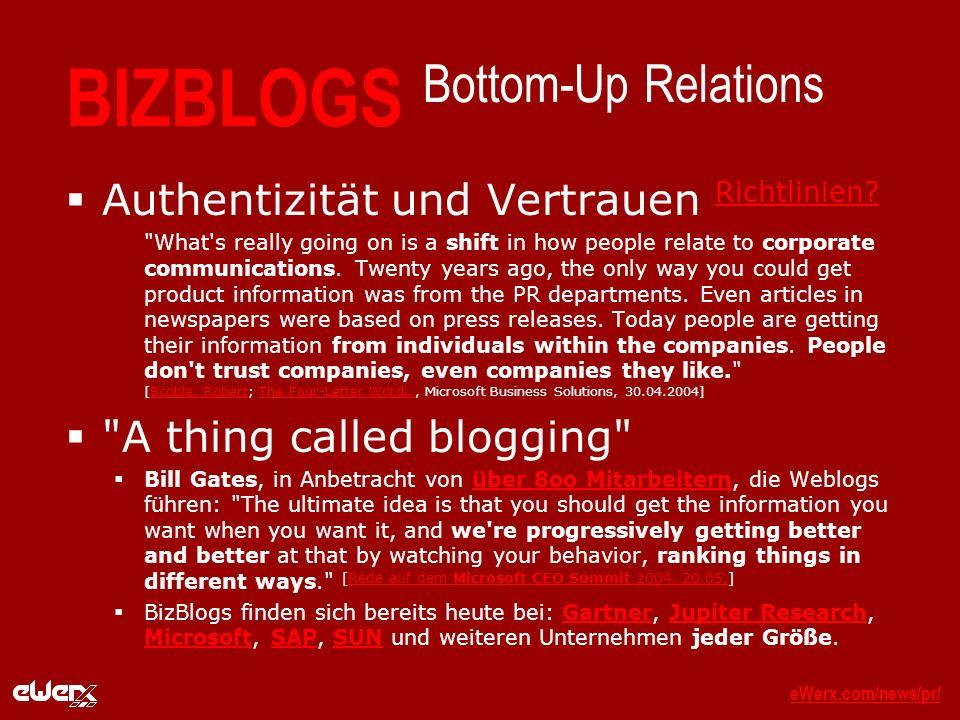 eWerx.com/news/pr/eWerx.com/news/pr/_ BIZBLOGS Bottom-Up Relations Authentizität und Vertrauen Richtlinien.