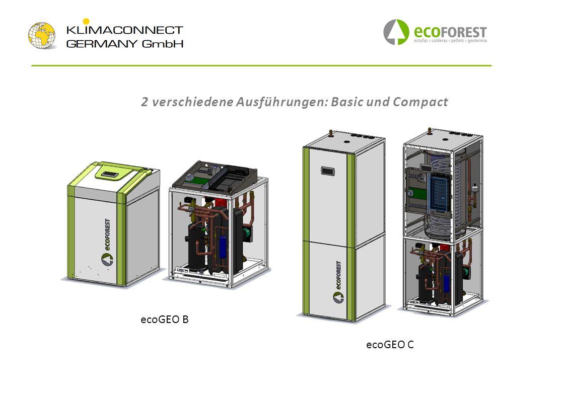 2 verschiedene Ausführungen: Basic und Compact ecoGEO C ecoGEO B