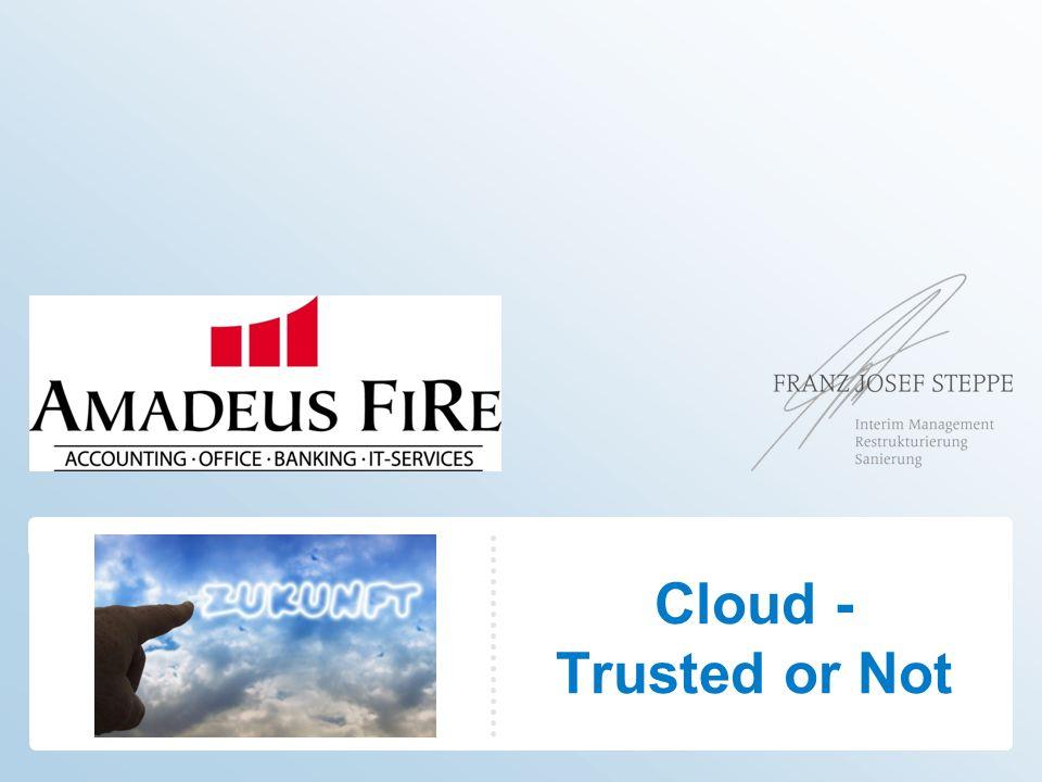 Software as a Service (SaaS) Cloud-basierte Anwendungen laufen als Software as a Service (SaaS) auf der Infrastuktur eines externen Providers in der Cloud.