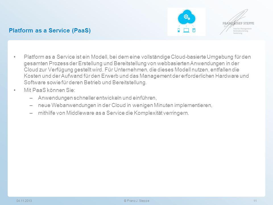Platform as a Service (PaaS) Platform as a Service ist ein Modell, bei dem eine vollständige Cloud-basierte Umgebung für den gesamten Prozess der Erst