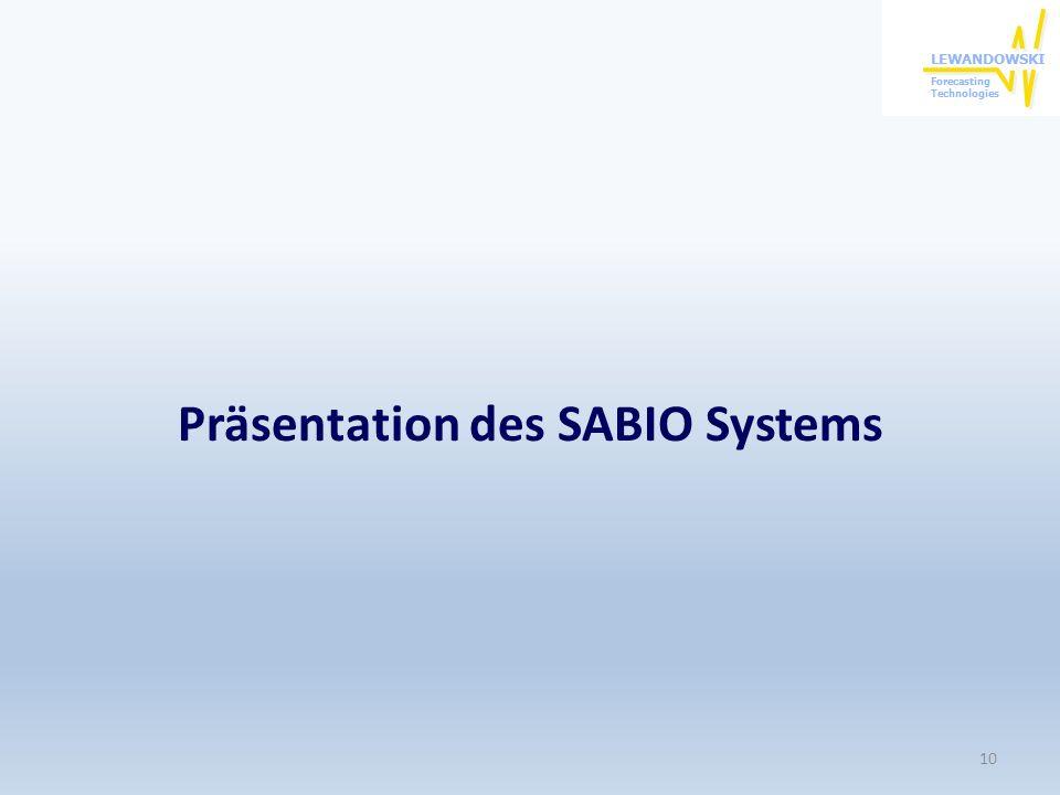 Präsentation des SABIO Systems 10
