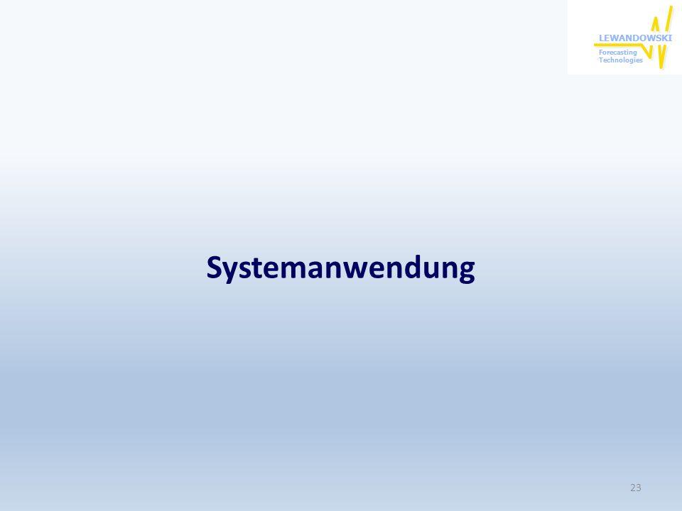 Systemanwendung 23
