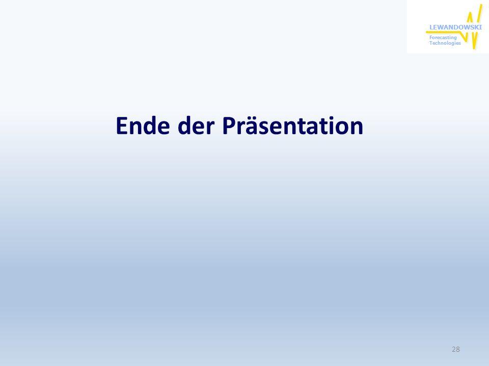 Ende der Präsentation 28