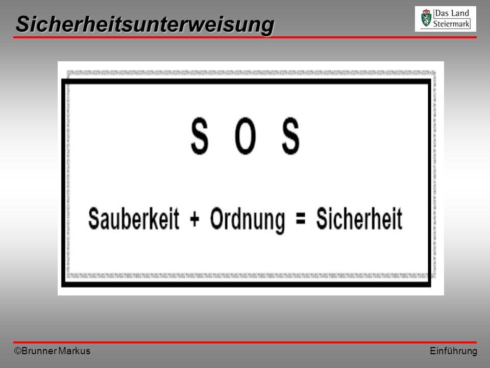 ©Brunner Markus Einführung Sicherheitsunterweisung