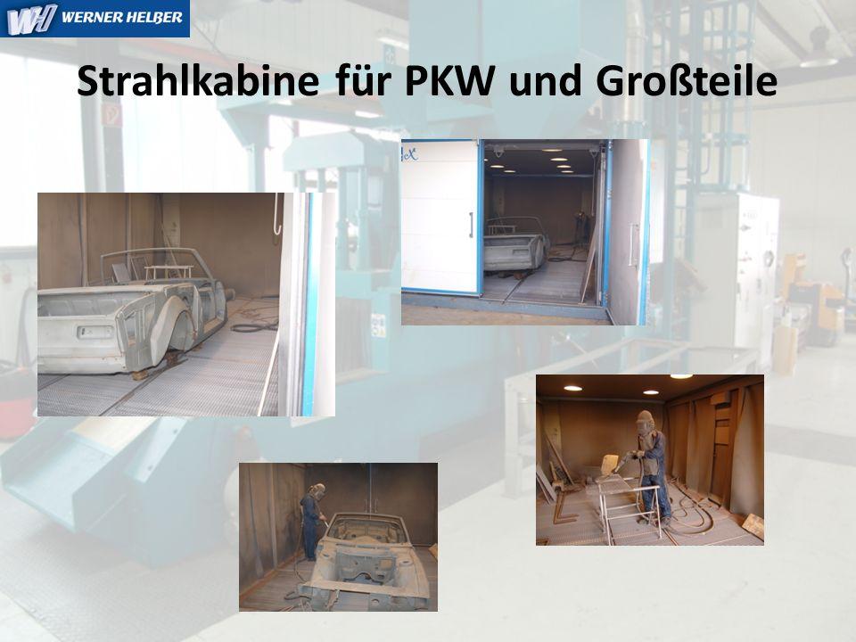 Strahlkabine für PKW und Großteile