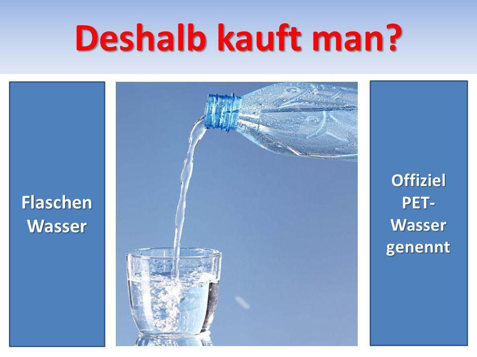 PET-Wasser 1 PET- Wasser enthält kein Jod Und Mineralien.