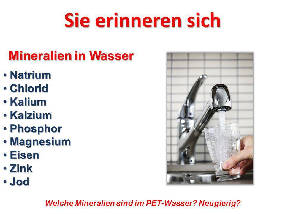 Mineralien im Wasser.