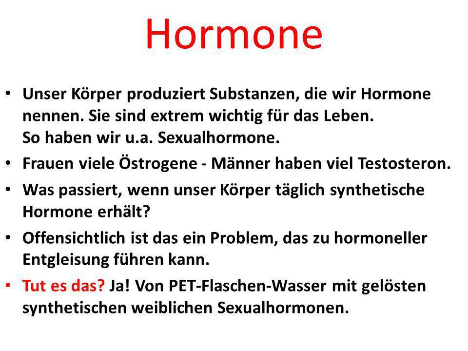 Plastic Hormone Xeno-Östrogene besetzen die Rezeptoren BISPHENOL A (BPA) Es wird ins Wasser entlassen.