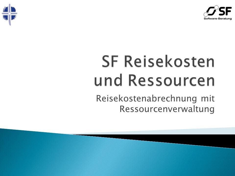 Reisekostenabrechnung mit Ressourcenverwaltung