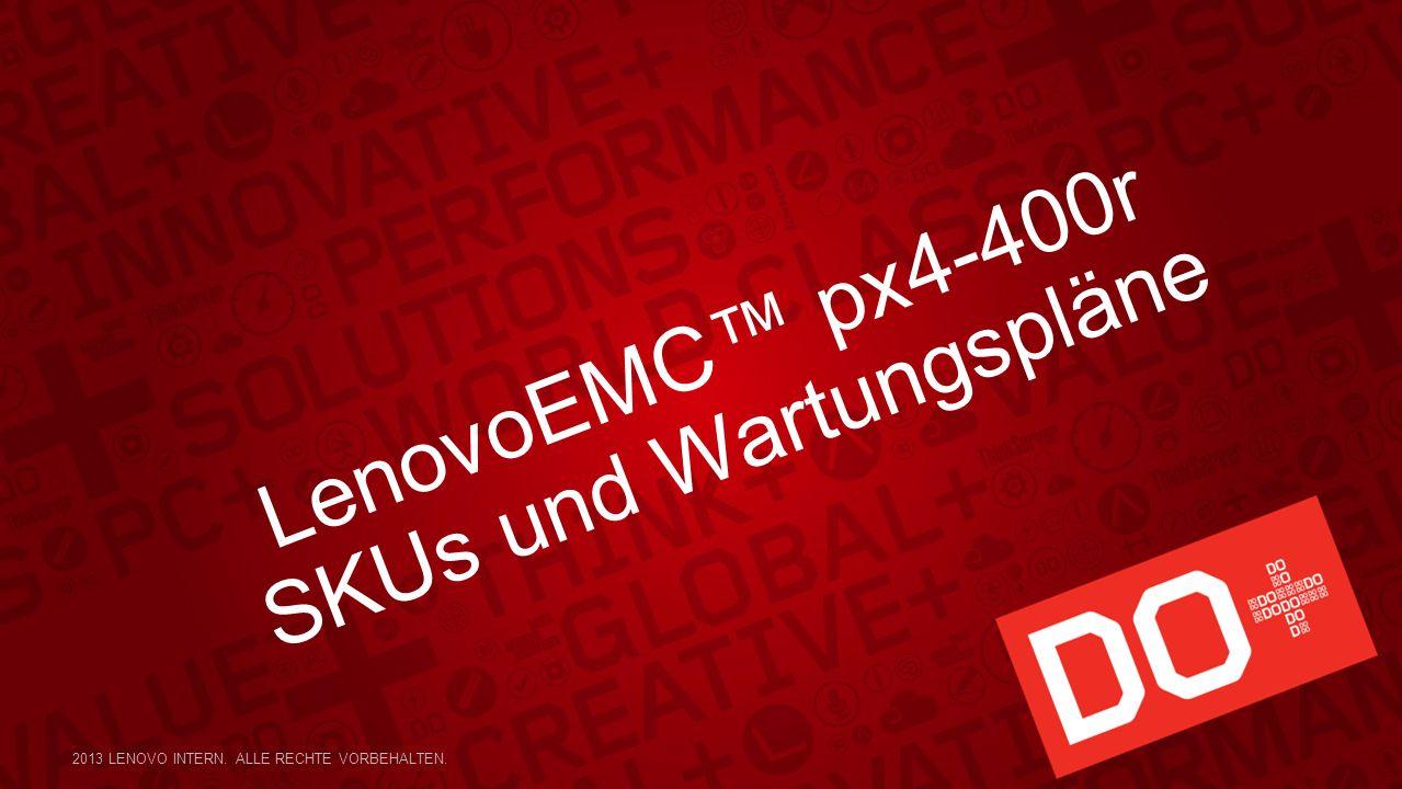LenovoEMC px4-400r SKUs und Wartungspläne 2013 LENOVO INTERN. ALLE RECHTE VORBEHALTEN.