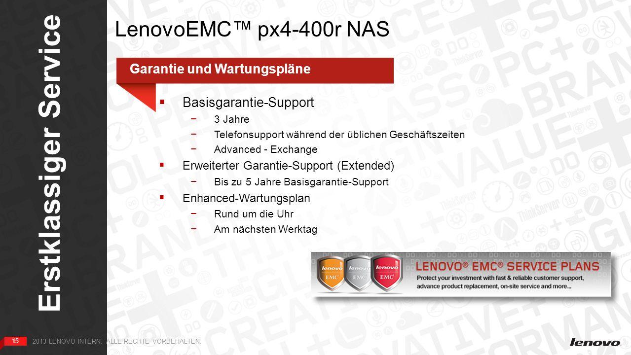 15 Erstklassiger Service 15 2013 LENOVO INTERN. ALLE RECHTE VORBEHALTEN.