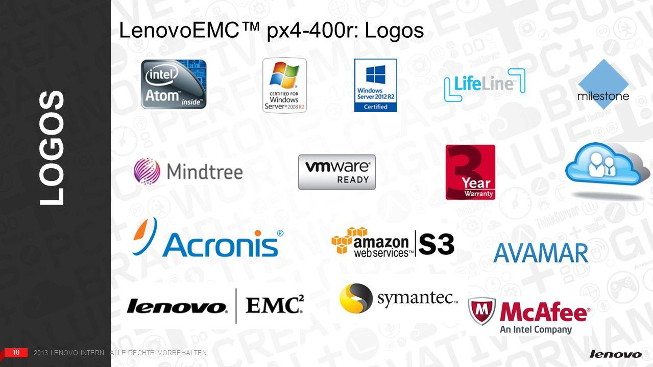 18 LOGOS 18 2013 LENOVO INTERN. ALLE RECHTE VORBEHALTEN. LenovoEMC px4-400r: Logos HOME