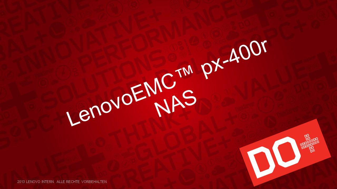 LenovoEMC px-400r NAS 2013 LENOVO INTERN. ALLE RECHTE VORBEHALTEN.