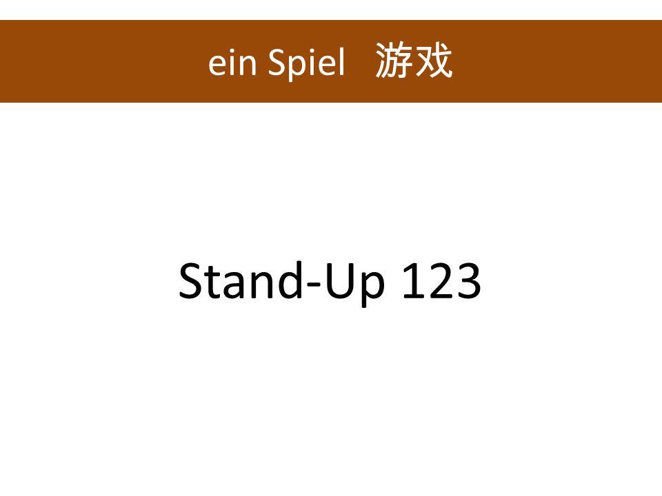 ein Spiel Stand-Up 123