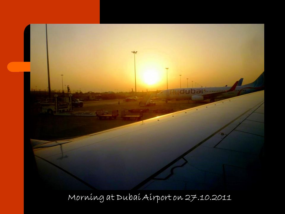 Morning at Dubai Airport on 27.10.2011