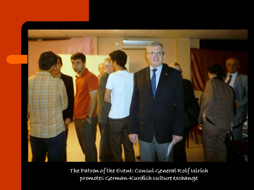The Patron of the Event: Consul General Rolf Ulrich promotes German-Kurdish culture exchange