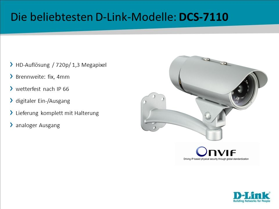 HD-Auflösung / 720p/ 1,3 Megapixel Brennweite: fix, 4mm wetterfest nach IP 66 digitaler Ein-/Ausgang Lieferung komplett mit Halterung analoger Ausgang