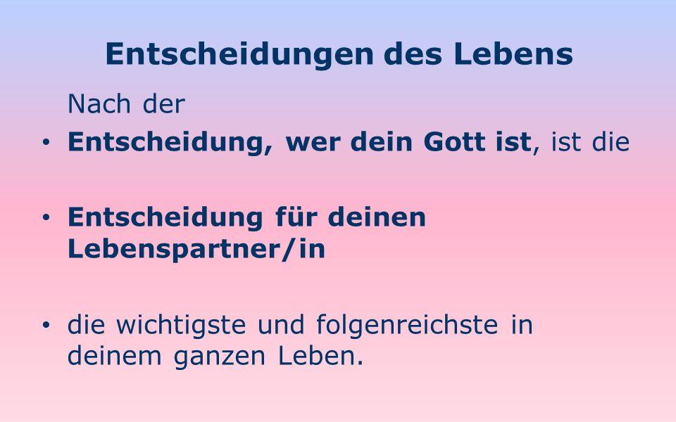 Singledasein, Ehe und Reinheit 45 3.