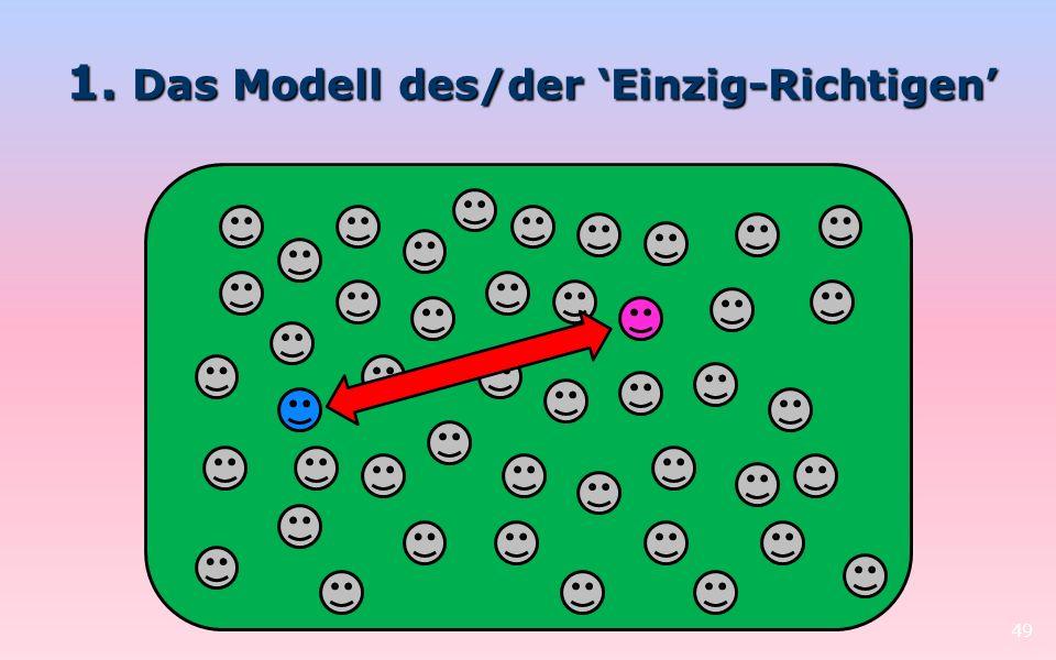 1. Das Modell des/der Einzig-Richtigen 49