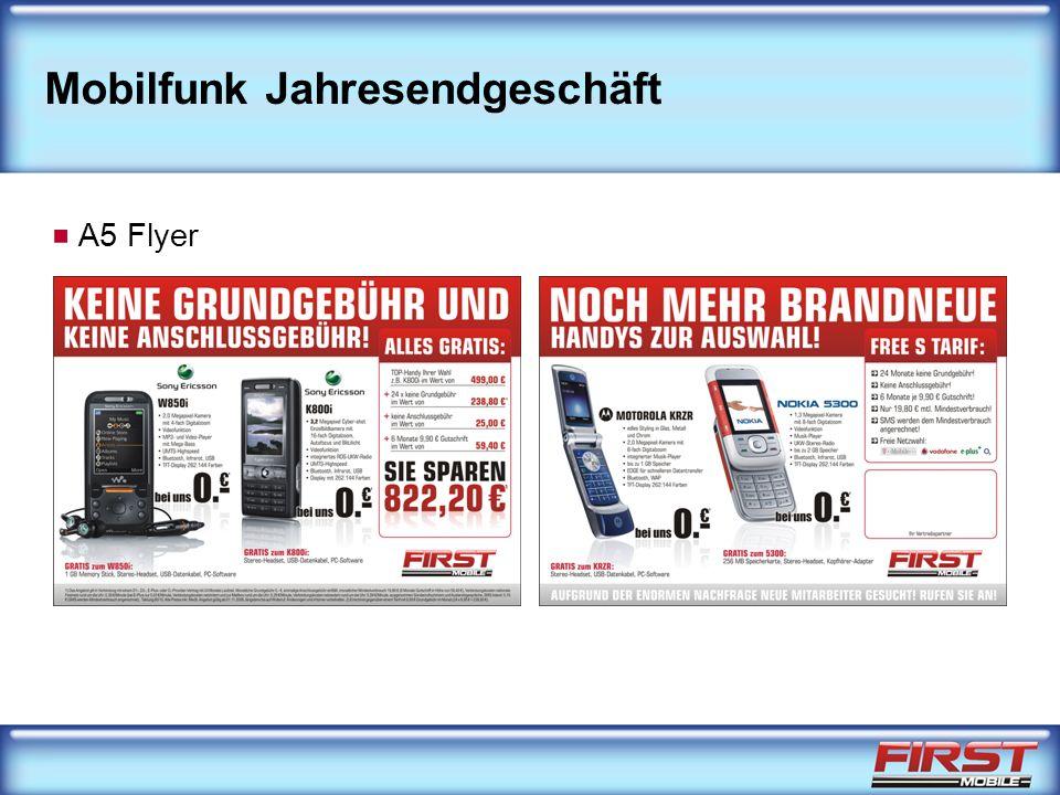 Mobilfunk Jahresendgeschäft A5 Flyer