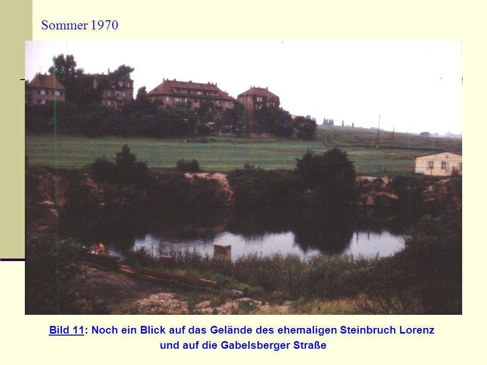 Sommer 1970 Bild 11: Noch ein Blick auf das Gelände des ehemaligen Steinbruch Lorenz und auf die Gabelsberger Straße