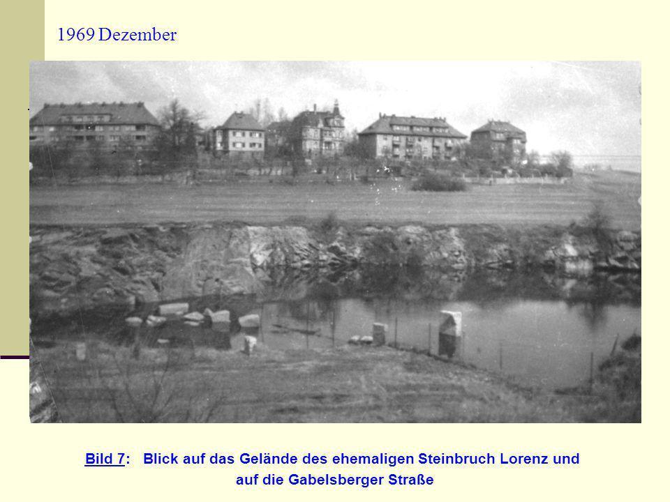 1969 Dezember Bild 7: Blick auf das Gelände des ehemaligen Steinbruch Lorenz und auf die Gabelsberger Straße