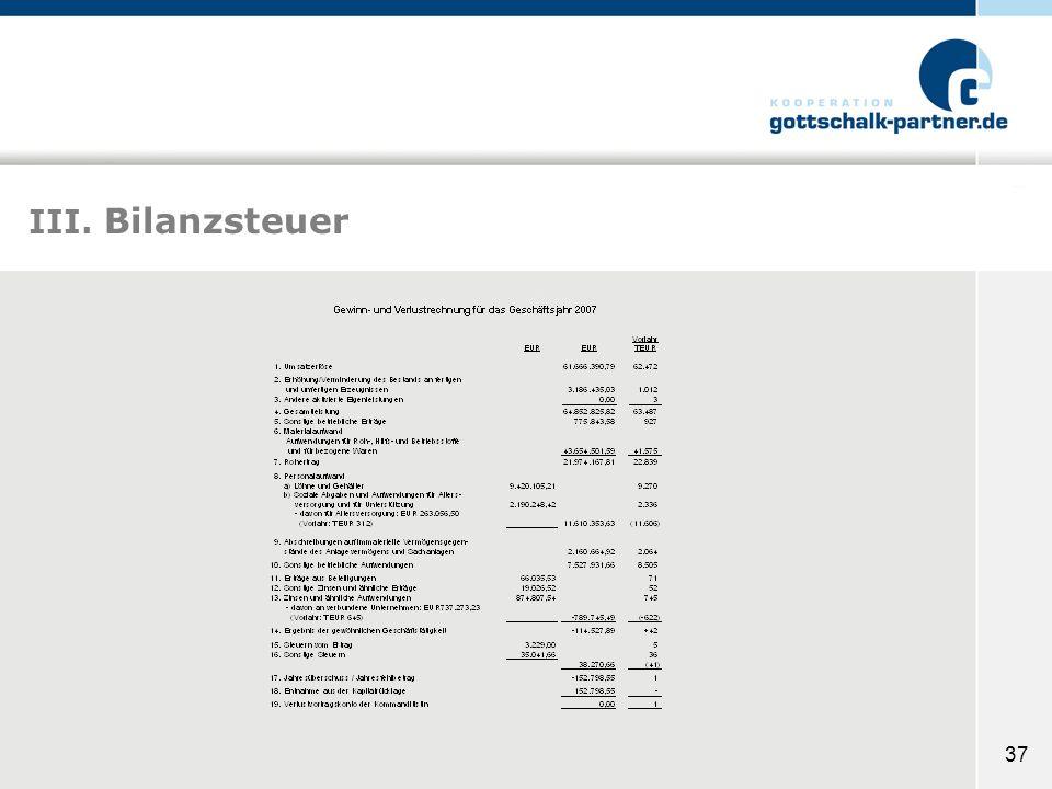 37 III. Bilanzsteuer