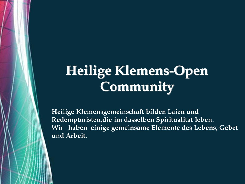 Free Powerpoint Templates Zasady funkcjonowania Redemptoristen Laien Heilige Klemensgemeindehaus